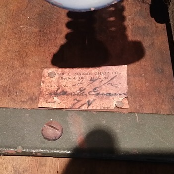 B.L. Marble Chair Co - Numbered, Signed, Patented 8-28-1923