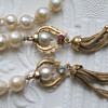 "Estate quality Baroque 15.5"" knotted pearls with 14k Pendant Clasp and Tassels"