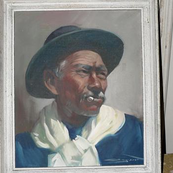 a gaucho painting... - Fine Art