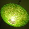 50's Flying Saucer Spaghetti Light/Lamp LIME GREEN