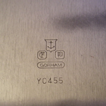 "Gorham 14"" diameter heavy holloware, Revere pattern - Silver"