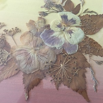 Russian folk art pressed flowers  - Fine Art