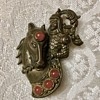 Knight and horse brooch