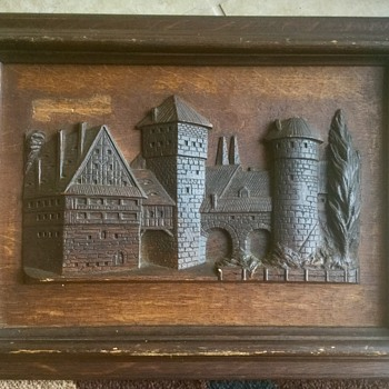 Carved wood picture in frame...HELP! - Fine Art