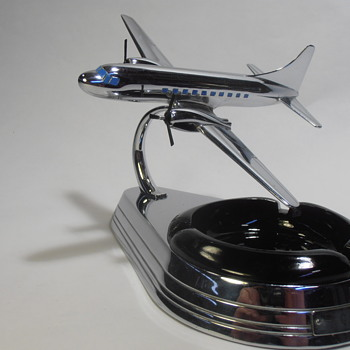 Vintage 1950 Allyn Convair CV-240 Chrome Ashtray Model as a Magazine Model  - Advertising