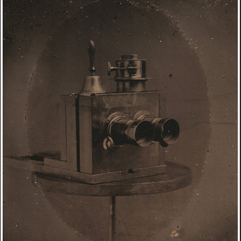 Tintype of Stereo Camera - Cameras