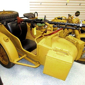 Rare. 1944 Zundapp Z-750 with original MG 43. Less than 18,000 were made for the German Army during WWII. Few survived.
