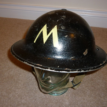 British WW11 Messenger steel helmet
