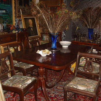 Victorian Diningroom Table & Chairs  - Furniture