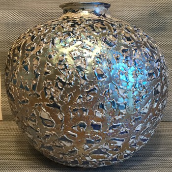 Large Durand Moorish Crackle Vase - Art Glass