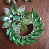 Beautiful Green Brooch and Earrings