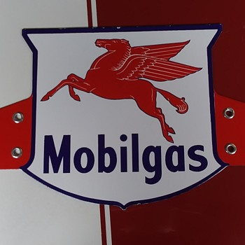Mobilgas porcelain truck sign - Petroliana