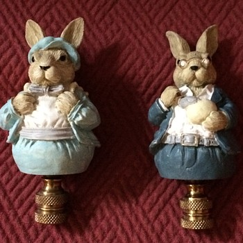 Easter Bunny Lamp Finials - Animals