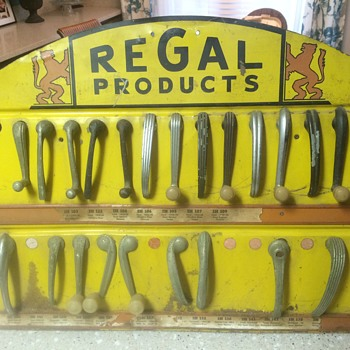 Regal Products window crank/door handle counter display. - Advertising