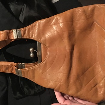 Vintage Brown Leather Purse - Bags