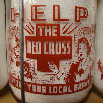 ROYAL OAKS DAIRY (CANADIAN) MILK BOTTLE.....RED CROSS SLOGAN - Bottles