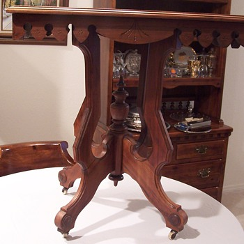 Family end table that supposedly has been around for 150 years - Furniture