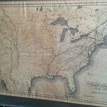 United States of America Folding map 1823
