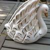 Old Ceramic Swan Lamp