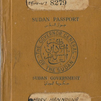 1947 Sudan passport