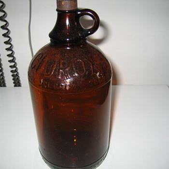 clorox glass bleach bottle - Bottles