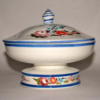 Lidded Ceramic Piece....Is this a Fruit Tureen? - Pottery