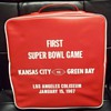First Superbowl seat cushion