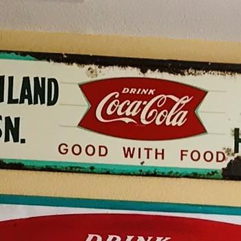 1958 Coca Cola Fishtail sign...interesting size - Coca-Cola