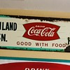 1958 Coca Cola Fishtail sign...interesting size