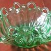 Uranium Green Depression Glass Bowl
