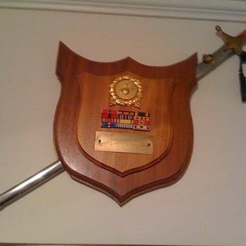 Grandfathers USMC plaque  - Photographs