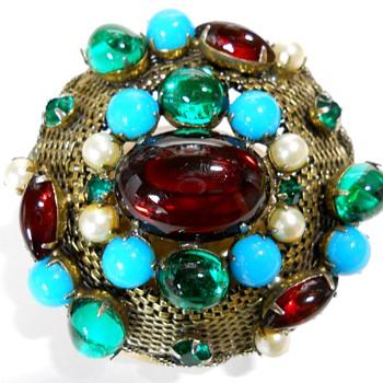 "Vintage, ""Hattie Carnegie"" Brooch, Circa 1950  - Costume Jewelry"