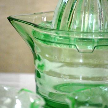 Green Depression Glass - Glassware