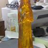 amber acrylic religeous figure