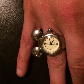 Antique Mickey Mouse watch ring