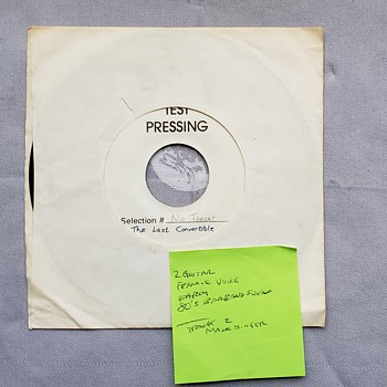 The Last Convertible (Test Pressing 45 Vinyl) - Records