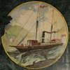 """'Copied from a painting of Dr. G. G. Green's steam yacht """"G.G. Green Jr."""""""