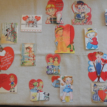 1940-50's Valentines Day Cards From Another's Love, And A Sunrise From A Finder's Day !  :^D - Cards