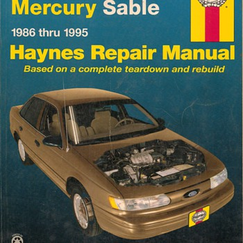 Haynes Repair Manual - 1986-1995 Ford Taurus & Mercury Sable - Classic Cars