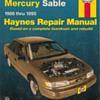Haynes Repair Manual - 1986-1995 Ford Taurus & Mercury Sable
