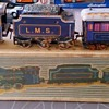 Dinky Toys N ° 438 box with a tin train set with mechanical clockwork