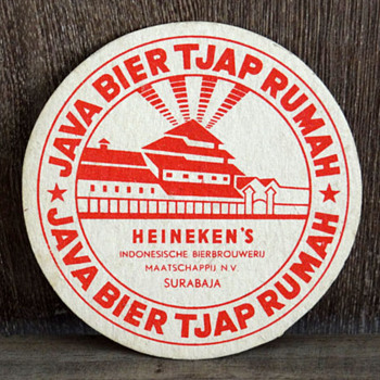 JAVA BIER Tjap RUMAH beer coaster - Signs