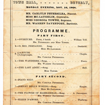 Concert in our town 1868 - Music Memorabilia