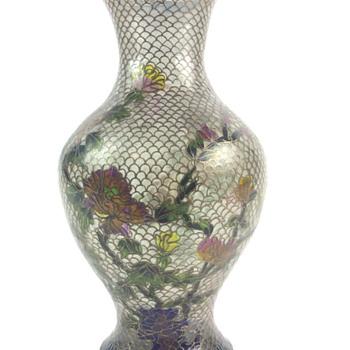 Chinese Plique a Jour vase - Asian