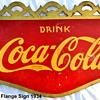 1934 Coca-Cola Flange Sign