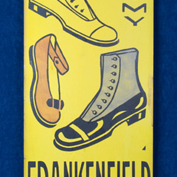 Vintage Small Town Shoe Store Tin Signs - Advertising