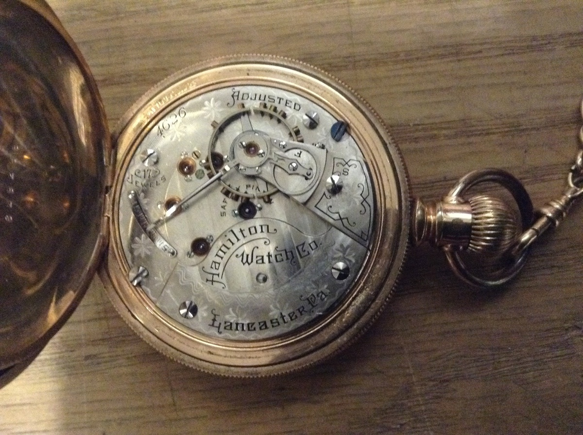 Pictures of hamilton pocket watches