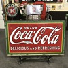 Coca Cola 5 ft sign with original  metal hanger date 1932