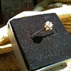"14K/585 White Gold & ""Diamond"" Ring & 585 Gold Earrings,  Flea Market Finds $7.50"