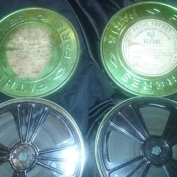 Pathe Freres film tins/reels (2) - Movies